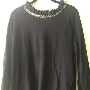 BNWT Talbots embellished sweater, navy, 2X